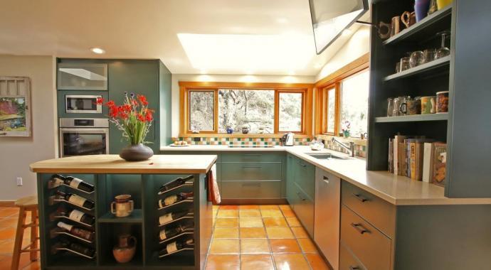 schadstofffreie nachhaltige Aluminiumküche - eternAL in Hartford Mist Dunkelgrün bei IMDesign