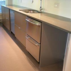 grey lower cabinets with drawer fridges Oak Bay, Victoria