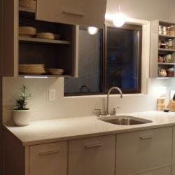bone white aluminium galley kitchen lift up hardware for upper cabinets