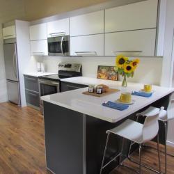 non-toxic sustainable aluminum kitchen in  bone white