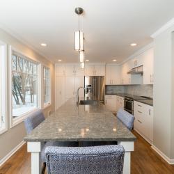 white aluminim flat slab cabinetry non-toxic zero off-gassing custom built