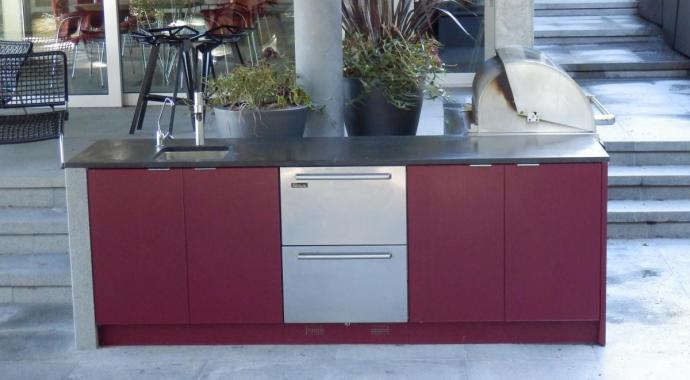 cuina exterior alumini vermell grana producte non-toxic