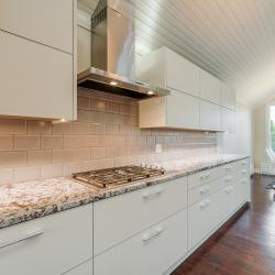 Aluminum kitchen cabinets in creamy off white ivory