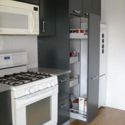 cuina alumini gris fosc non-toxic calaixos soft close, emmegatzematge rebost extraïble
