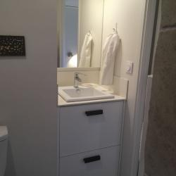 bathroom vanity custom built 2 drawers white aluminum design by IMDesign